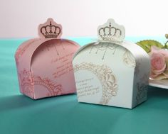 Crown on top creative candy packaging boxes with flowers pattern Wedding gift paper box Cardboard box-in Packaging Boxes from Industry & Bus...