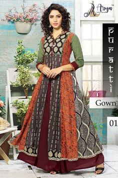 aryadress,maharani gown,designfull gown,fancy woman gown | Arya Dress Maker Designer Gowns, Indian Designer Wear, Latest Party Wear Gown, Types Of Gowns, Printed Gowns, Kurta Designs Women, Kurti Designs Party Wear, Gowns Online, Salwar Kameez