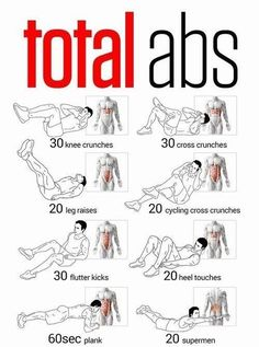 Short abs workout  I found, but I'm sure anybody will still be able to feel the burn afterwards!