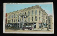 wellsville, NY photos   ... Fassett House Old Cars Bus Wellsville NY Allegany Co Postcard New York