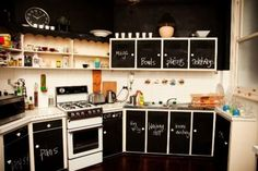 Kitchen - Chalk boards