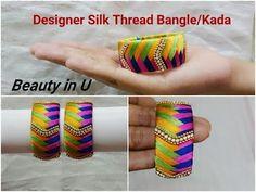 How to make Silk Thread Pink Loreal Jhumkas at Home | Tutorials !! - YouTube
