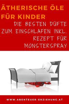 Wie du deinem Kind beim Einschlafen helfen kannst Monster Spray, Doterra, Home Decor, Falling Asleep Tips, Sleep Well, Aromatherapy Recipes, Mom And Dad, Childhood Education, Family Life