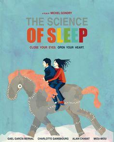 ** The Science of Sleep** Modern wall art, minimalist poster, digital illustration, fine art print. An original art work by MunaMias designers. Print