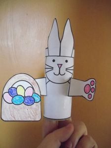Toilet Paper Tube Rabbit Craft from Making Learning Fun
