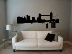 Doctor Who in front of London SIlhouette  Dr. by StickItStickers, $18.00