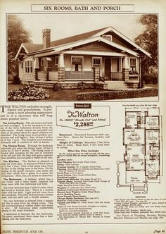 Sears homes.  Oodles of old cute home plans- can use as a guide.