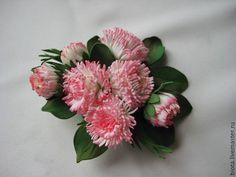 Купить МАРГАРИТКИ. Цветы из фоамирана - розовый, бледно-розовый, брошь с…
