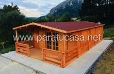 paratucasa - casas de madera Cabin, House Styles, Building, Home Decor, Style At Home, Log Homes, Decoration Home, Room Decor, Cabins