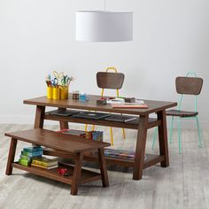 Shop Woodstock Play Table (Brown).  Our Woodstock Play Table maximizes your playroom space by letting you stash books, bins and more underneath.  Shop play tables.