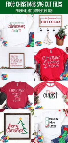 Eight free Christmas Cut files for Cricut, Silhouette, or Brother Scan N Cut. Download these free SVG files for your Cristmas Crafts today Free Christmas Gifts, Christmas Svg, Christmas Ideas, Christmas Movies, Christmas Baking, Christmas Decor, Holiday Decor, Cricut Creations, Cutting Files