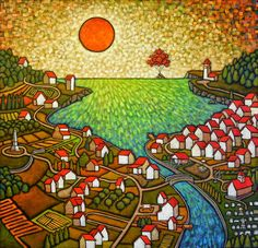 ..... I will have this painting.   GC Myers, 1959 ~ Stylized Symbolic Landscapes