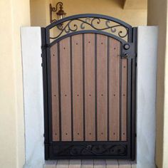 Wooden Garden Gate, Metal Garden Gates, Metal Gates, Wooden Gates, Wrought Iron Gates, Fence Gate Design, Front Gate Design, House Gate Design, Side Gates