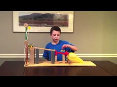 Six Simple Machine Project Using All Six Machines - Rube Goldberg Physics Projects, Stem Projects, School Projects, Projects For Kids, Project Ideas, Stem Science, Science Fair, Science For Kids, Physical Science