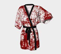 "Kimono+Robe+""Bloody+Crime+Scene+Kimono""+by+Pugmom4"