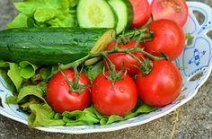 Domates, Salatalık, Salata, Bahçe, Hasat