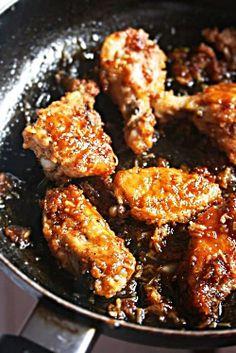 Sticky Garlic Wings