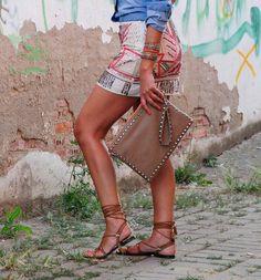 minifalda de lentejuelas