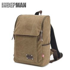 69.00$  Buy here - http://ali1m4.worldwells.pw/go.php?t=32721503554 - Travel Bag 2016 Vintage Canvas Schoolbag for Teenagers Men Large Capacity Solid Pu Rucksack Multifunctional Casual Back Pack