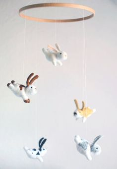 Bunny mobile nursery mobile baby mobile crib by MistrSandman - member of the TCoterie team on Etsy