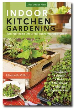 Indoor Kitchen Gardening: Turn your home into a year-round vegetable garden by Elizabeth Millard plus a whole bunch of ideas for growing food crops including herbs indoors!