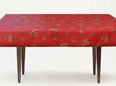 72 or 84 inches Rectangle or Oval Coated Provence Tablecloth Olives all over in Red - Please Choose the Size and the Shape - Stain Proof Tablecloth - *** Click image for more details.