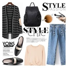 """""""Yoins"""" by helenevlacho ❤ liked on Polyvore featuring MANGO, yoins, yoinscollection and loveyoins"""