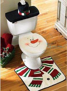 Type: Christmas Decoration SuppliesChristmas Item Type: Indoor Christmas DecorationLight Source: LuminousModel Number: Snowman Toilet Seat CoverPattern: Cartoon