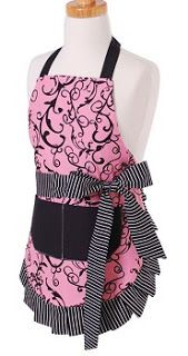 6 Girls' Vintage Aprons ~ Chic Pink