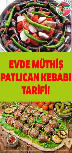 Best Easy Cake : Awesome eggplant kebab recipe at home! Good Meatloaf Recipe, Best Meatloaf, Meatloaf Recipes, Healthy Eating Tips, Healthy Snacks, Turkish Recipes, Ethnic Recipes, Crock Pot Meatballs, Ground Beef Casserole