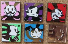 Oswald the Lucky Rabbit Expressions collection pin features Oswald with a Happy expression with a pink colored background. A silver Hidden Mickey icon is in the corner. Thanks to my parents I now have this whole series and the chaser pin!