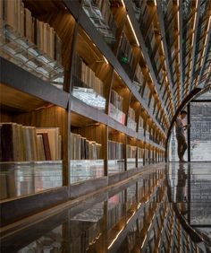 XL-Muse creates tunnel of books for shop in China