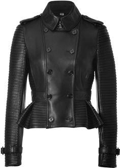 BURBERRY Leather Headington Jacket in Black - Lyst