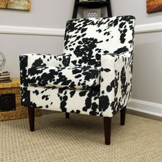 Cowhide Decor, Cowhide Chair, Patterned Chair, Cow Print Chair, Chen, Black And White Chair, Funky Furniture, Rug, Future House