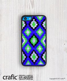 Blue LOVES Green Pattern iPhone 5C Case