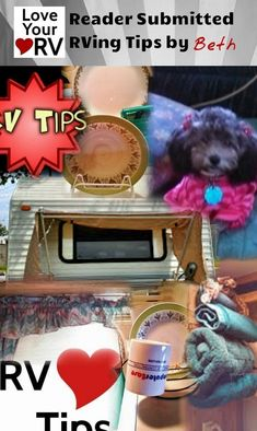 Inventive and Inexpensive RV Tips - Reader Submitted Tip - found on the Love Your RV! blog http://www.loveyourrv.com/