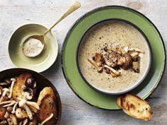 Aartappel-en-sampioensop South African Recipes, Ethnic Recipes, Light Recipes, Kos, Hummus, Oatmeal, Appetizers, Pudding, Meals