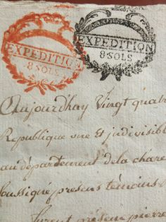 Double stamped French Documents  xo--FleaingFrance