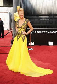 Nancy O'Dell in Chagoury Couture