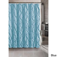 The Carmen shower curtain is beautifully crafted with puckered diamonds throughout its design. The 100-percent polyester and machine washable Carmen shower curtain comes in blue, brown, taupe and white.