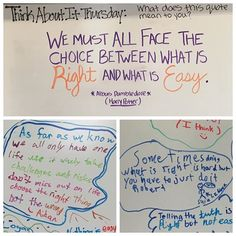 Think About It Thursday-white board messages Future Classroom, School Classroom, Classroom Ideas, Google Classroom, Teaching Tools, Teaching Resources, Teaching Writing, Teaching Ideas, Classroom Organization