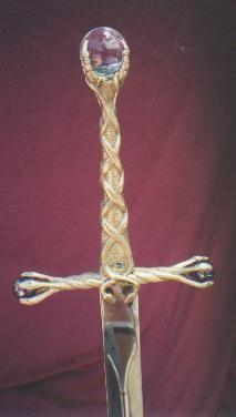 Sword with jeweled pommel