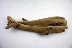 driftwood fish sculpture little whale...made from natural by Yalos