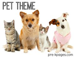 Pre-K Pages pets theme features ideas for preschool and kindergarten teachers to use in their classrooms including activities for math and literacy.
