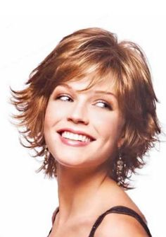 Short Face Flattering Bob With Feathered Layers And Wispy