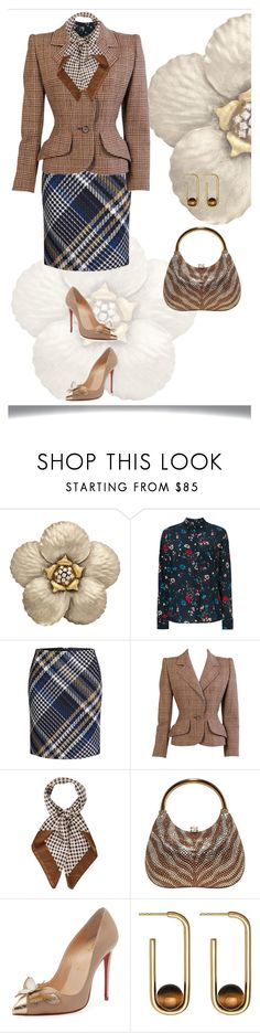 """""""In The Blink Of A Tigers Eye"""" by feileastram ❤ liked on Polyvore featuring Balenciaga, Oui, Givenchy, Aquascutum, Judith Leiber, Christian Louboutin and Astley Clarke"""