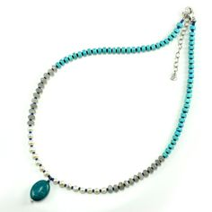 Natural Turquoise Style Freshwater Pearl Necklace