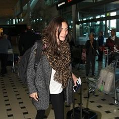 Actress Phoebe Tonkin arrives in Australia from Los Angeles
