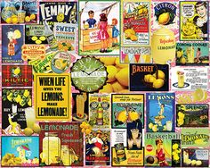 When Life Gives You Lemons Vintage Collage Jigsaw Puzzle-White Mountain Puzzles