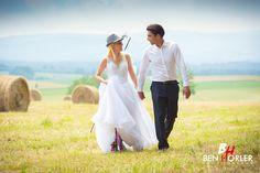 Peaceful village and happy bride and groom! www.weddingpoland.com
